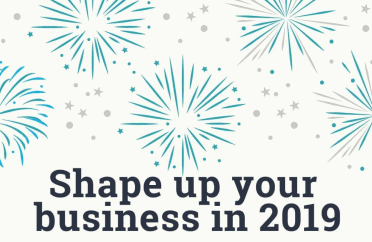 Fireworks image with text Shape up your business 2019