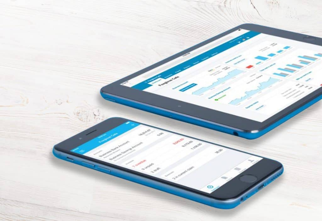 iphone and tablet showing Xero accounts