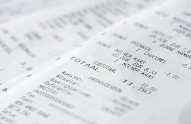 Photo of a couple of receipts
