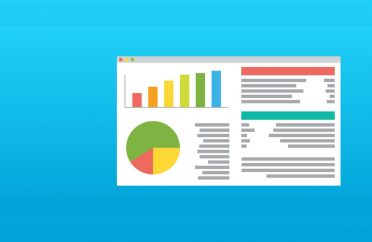 Management system dashboard showing charts and data tables