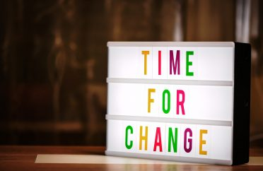 Photo of lightbox saying 'Time for Change' - changing accountant?